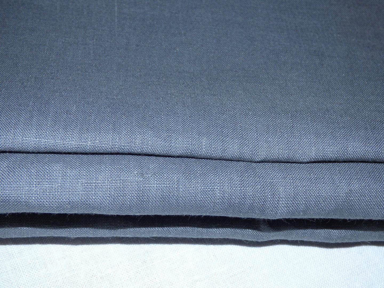 coupon de lin fin de couleur bleu-gris