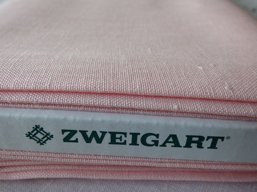 Zweigart Newcastle 16 fils Rose col 4064
