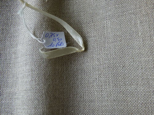 Coupon de 50*35CM Lin naturel en 10fils