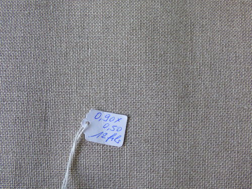 Coupon de Lin 12fils au cm de couleur naturel