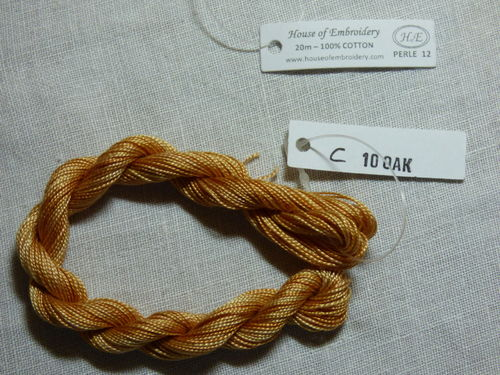 Perlé n°12 HOUSE OF EMBROIDERY COL 10C Oak