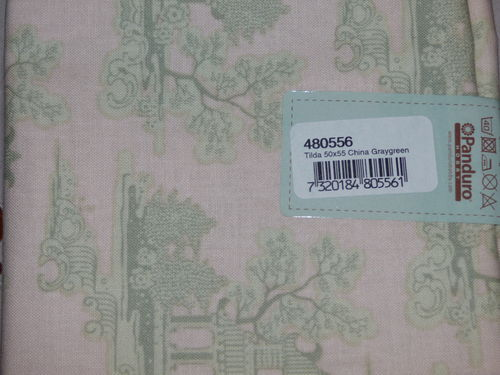 Coupon tissus Tilda China Graygreen ref 480556