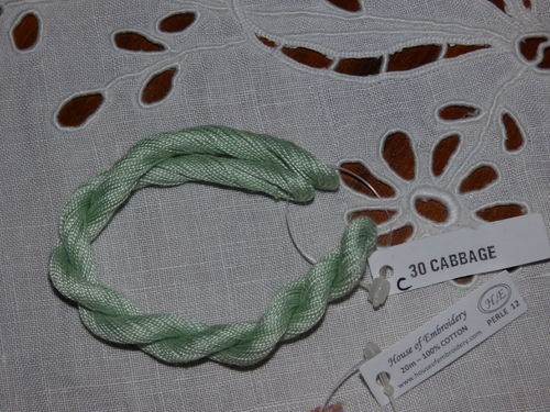 Perlé n 12  House of embroidery  COL 30C CABBAGE