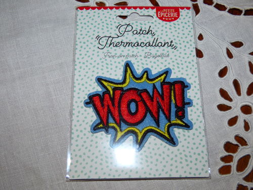 "Ecussons thermocommant ""Wow"""