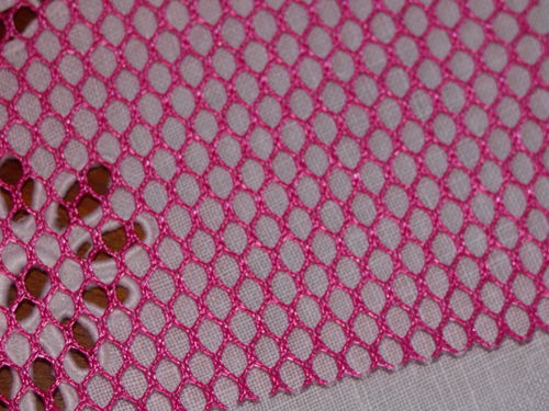 Coupon de tissus Filet Mesh Fabric  fuchsia